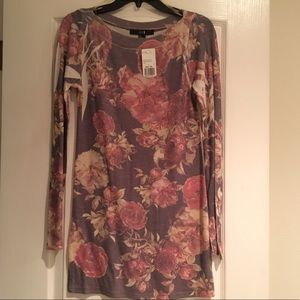 Forever 21 NWT taupe rose tunic LARGE